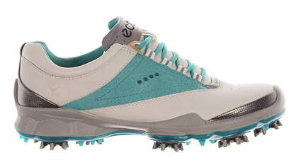 New Womens Golf Shoe Ecco BIOM 37 (6-6.5) White/Turquoise MSRP $80