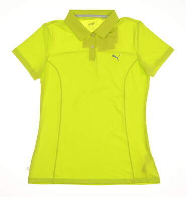 New Womens Puma Golf Pounce Polo Small S Green MSRP $50 570526