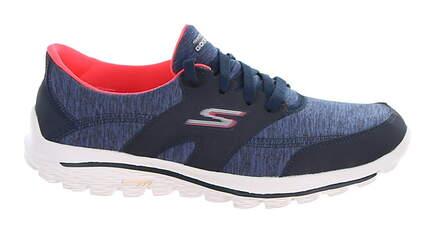 New Womens Golf Shoe Skechers GOwalk 2 Backswing 6.5 Blue MSRP $80
