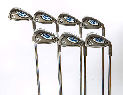 Ping i5 Iron Set 4-PW True Temper Steel Stiff Right Handed Green Dot 37.75 in