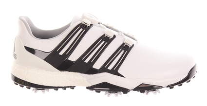 New Mens Golf Shoe Adidas Powerband Boa Boost Wide 11.5 White/Black MSRP $180