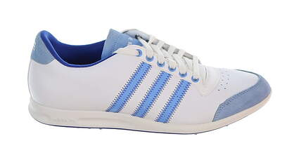 New Womens Golf Shoe Adidas Adicross S Medium 7 White/Blue MSRP $100