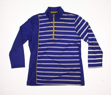 New Womens EP Pro Golf 1/4 Zip Pullover Small S Blue MSRP $79 5721LB