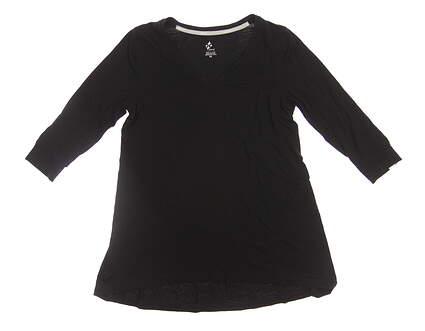 New Womens Jo Fit 1/2 Sleeve Tee X-Small XS Black MSRP $75