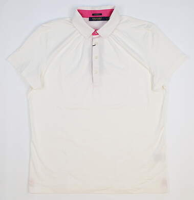 New Womens Ralph Lauren Golf Polo Large L White MSRP $80