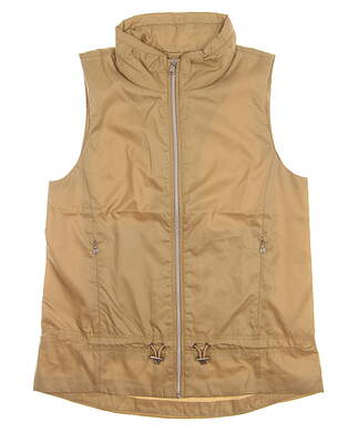 New Womens Ralph Lauren Vest Small S Tan MSRP $125