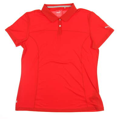 New Womens Puma Golf Polo Small S Orange MSRP $50 570527