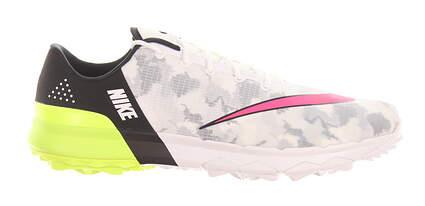 New Mens Golf Shoe Nike FI Flex 10 White/Racer Pink/Volt MSRP $100