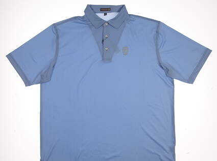 New W/ Logo Mens Peter Millar Golf Polo X-Large XL Blue MSRP $92 MS17EK14S