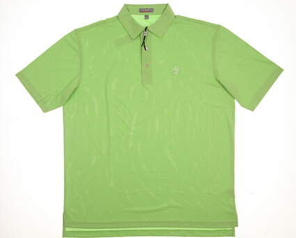 New W/ Logo Mens Peter Millar Golf Polo Large L Green MSRP $79