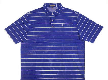 New W/ Logo Mens Peter Millar Golf Polo X-Large XL Blue MSRP $85 MS16EK52S