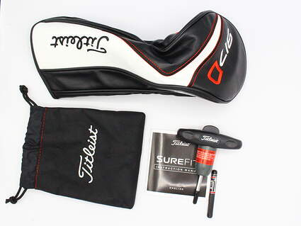 New Titleist 917 Driver Headcover W/ Surefit Tool, Manual, Pouch, & 12g Weight
