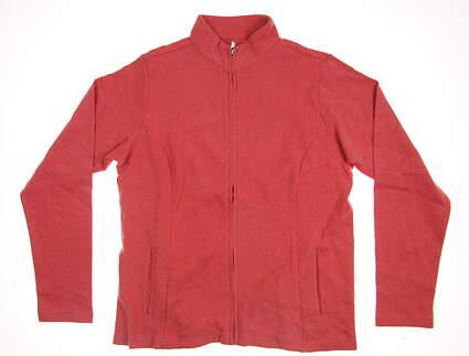 New Womens Peter Millar Full Zip Mock Neck X-Large XL Scarlet Lily MSRP $125 LF16K20