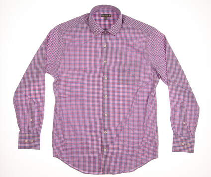 New Mens Peter Millar Button Up Medium M Multi MSRP $135 MS18EW10BL