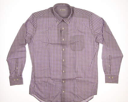 New Mens Peter Millar Button Up Large L Multi MSRP $135 MF17W04CBL