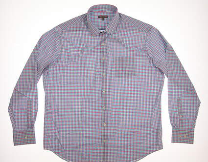 New Mens Peter Millar Button Up X-Large XL Multi MSRP $135 MS18EW02BL