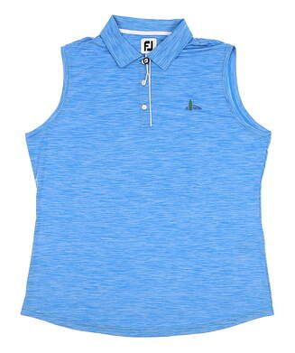 New W/ Logo Womens Footjoy Sleeveless Polo X-Large XL Blue MSRP $80 27099
