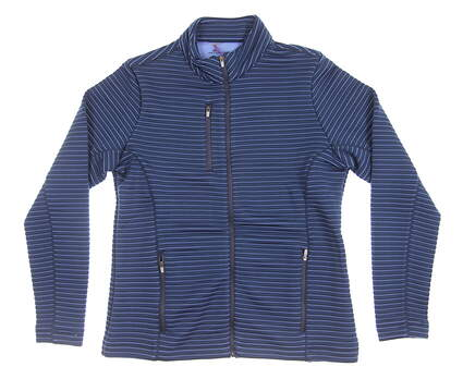 New Mens Peter Millar Channel Quilt Full Zip Layer Medium M Eventide Blue MSRP $110 LF16EK19