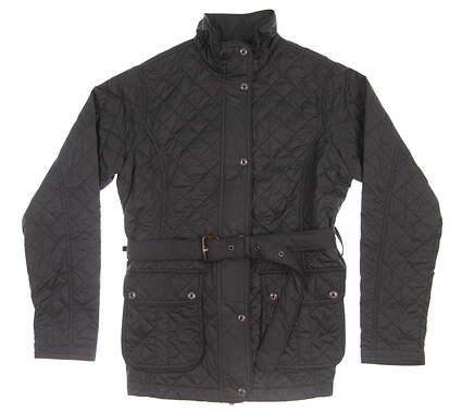 New Womens Peter Millar Jacket Small S Black MSRP $165 LF15Z02