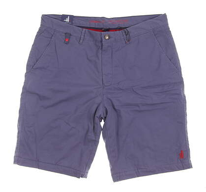 New Mens Johnnie-O Tailgaters Fleece Lined Shorts Size 36 Blue MSRP $85 JMSH1100