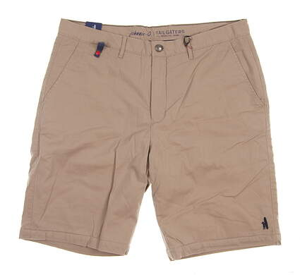 New Mens Johnnie-O Tailgaters Fleece Lined Shorts Size 38 Khaki MSRP $85 JMSH1100