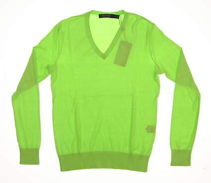 New Womens Ralph Lauren Golf Sweater Small S Green MSRP $125
