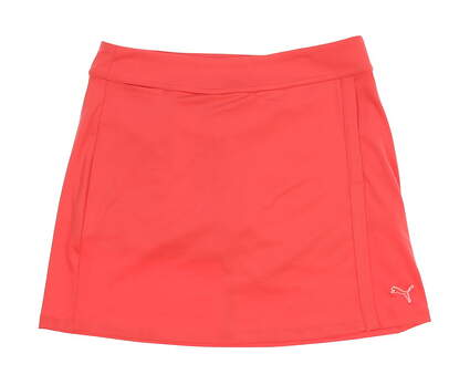 New Womens Puma DryCell Solid Knit Golf Skort Size Small S Pink MSRP $82 568371