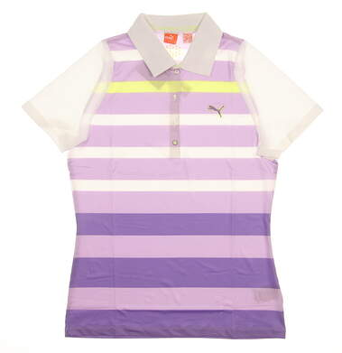 New Womens Puma Golf Polo Small S Purple MSRP $85