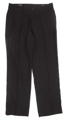 New Mens Adidas Climalite Stretch Pants 34x32 Black MSRP $75 Z25229