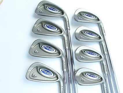 Ping i5 Iron Set 3-PW Stock Steel Shaft Steel Stiff Right Handed Black Dot 38 in