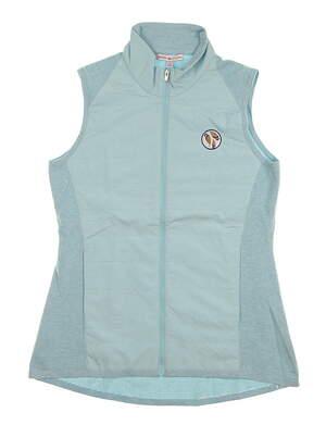 New W/ Logo Womens Peter Millar Hybrid Vest Large L Succulent MSRP $190 LS18EZ02