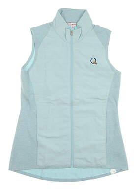 New W/ Logo Womens Peter Millar Hybrid Vest Small S Succulent MSRP $190 LS18EZ02