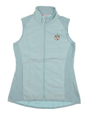 New W/ Logo Womens Peter Millar Hybrid Vest Large L Blue MSRP $190 LS18EZ02