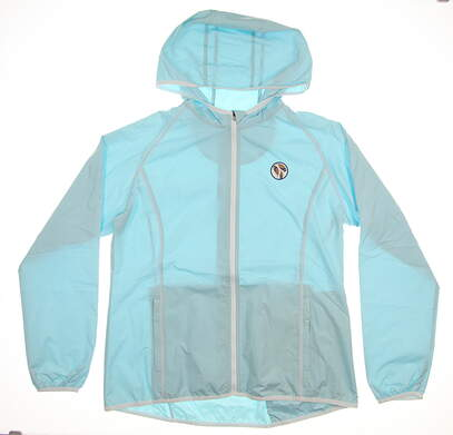 New W/ Logo Womens Peter Millar Melange Packable Full-Zip Jacket Medium M Succulent MSRP $190