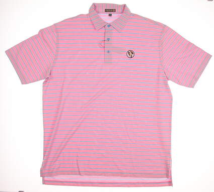 New W/ Logo Mens Peter Millar Summer Comfort Golf Polo X-Large XL Pink MSRP $90