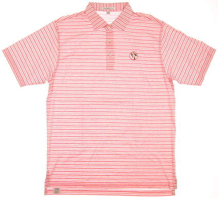 New W/ Logo Mens Peter Millar Golf Polo Large L Pink MSRP $85