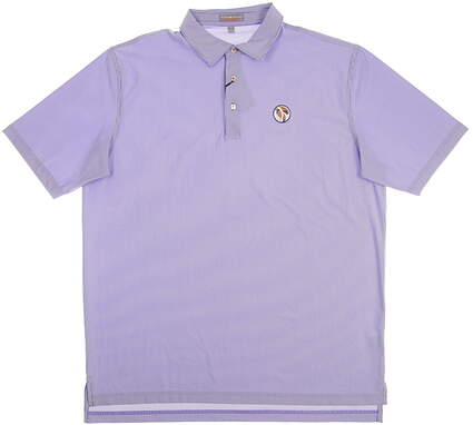 New W/ Logo Mens Peter Millar Summer Comfort Golf Polo Small S Blue MSRP $85 MS15EK16S