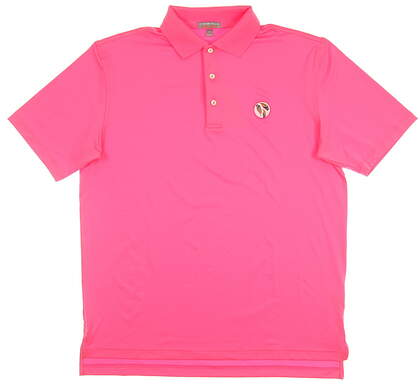 New W/ Logo Mens Peter Millar Summer Comfort Golf Polo Large L Pink MSRP $80