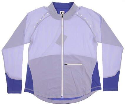 New Womens Footjoy Full-Zip Woven X-Large XL Blue MSRP $135 27546