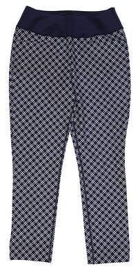 New Womens Puma PWRSHAPE Checker Pant Size Small S Peacoat MSRP $55 577955 01