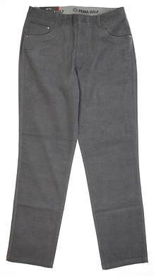 New Mens Puma Corduroy Golf Pants 32x32 Quiet Shade MSRP $85 576140 02
