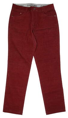 New Mens Puma Corduroy Golf Pants 32x32 Red MSRP $85