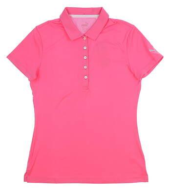 New Womens Puma Pounce Polo Small S Carmine Rose MSRP $50 574652 09