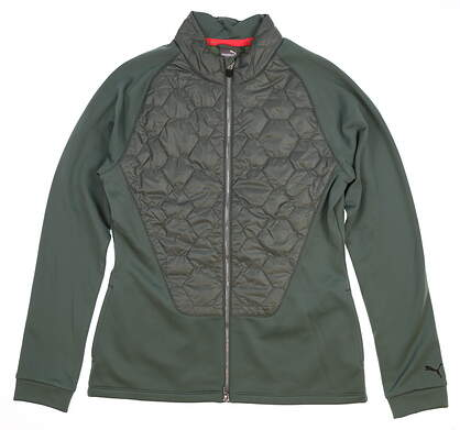 New Womens Puma PWRWARM Extreme Jacket Small S Laurel Wreath MSRP $120 576143 02
