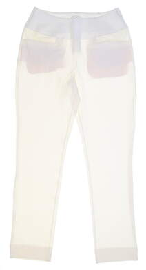 New Womens Puma PWRSHAPE Pull On Pants Size Small S Bright White MSRP $80 574779 01