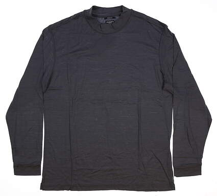 New Mens Ashworth Long Sleeve Mock Neck Medium M Gray MSRP $75 B38230