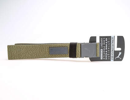 New Mens Puma Ultralite Stretch Golf Belt One Size Fits Most Forest Night MSRP $26 053372 09