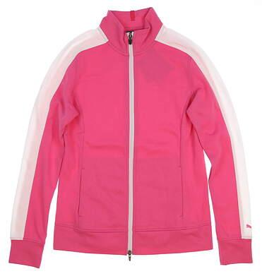 New Womens 2018 Puma Track Jacket Small S Carmine Rose MSRP $70 576149 03