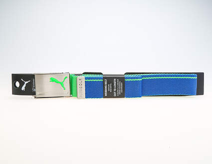New Mens 2018 Puma Reversible Web Belt One Size Fits Most True Blue/Andean Toucan MSRP $20