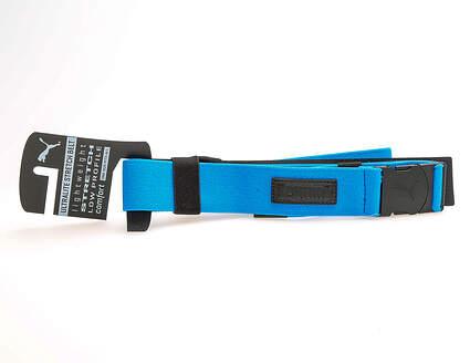 New Mens 2018 Puma Ultralite Stretch Belt One Size Fits Most Electric Blue Lemonade MSRP $26